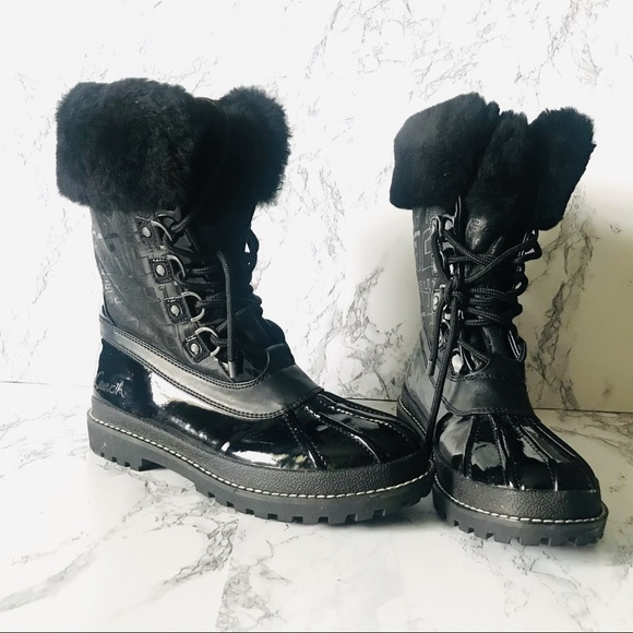 🆕Coach Lenora Faux Fur Shearling Lined Boots-8